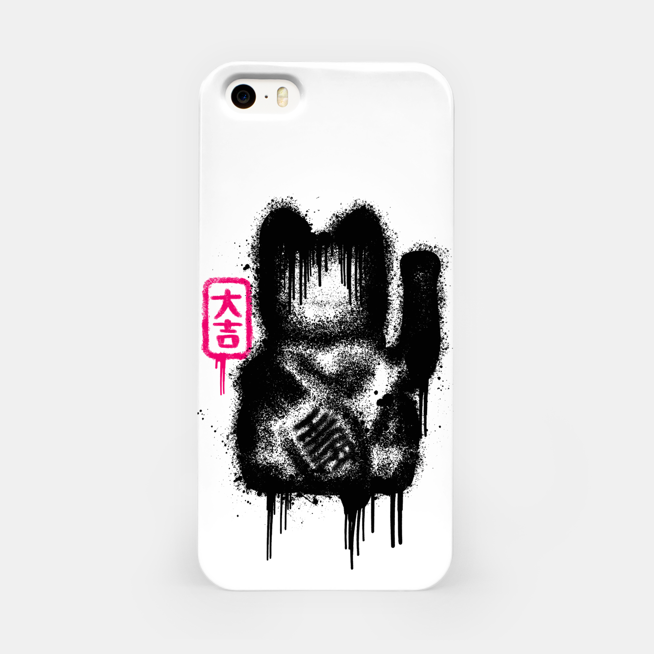 Image of Lucky Cat Spray iPhone Case - Live Heroes