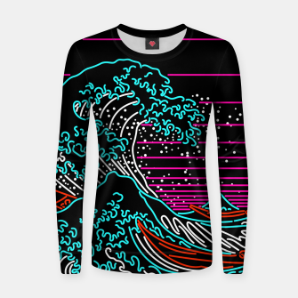 Thumbnail image of Great Neon Wave Women sweater, Live Heroes