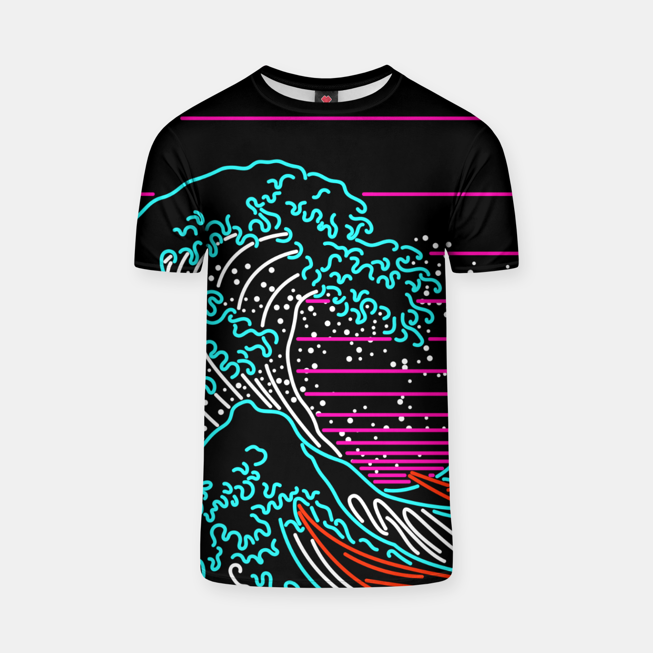 Image of Great Neon Wave T-shirt - Live Heroes