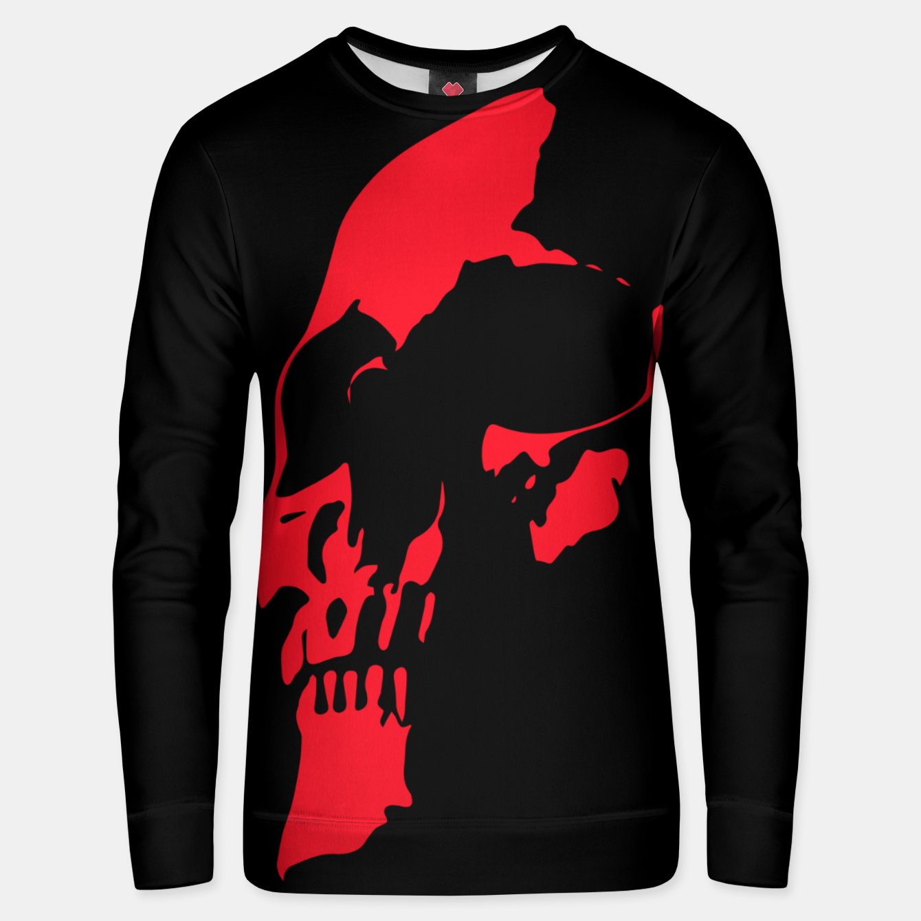 Image of Red Skull Unisex sweater - Live Heroes