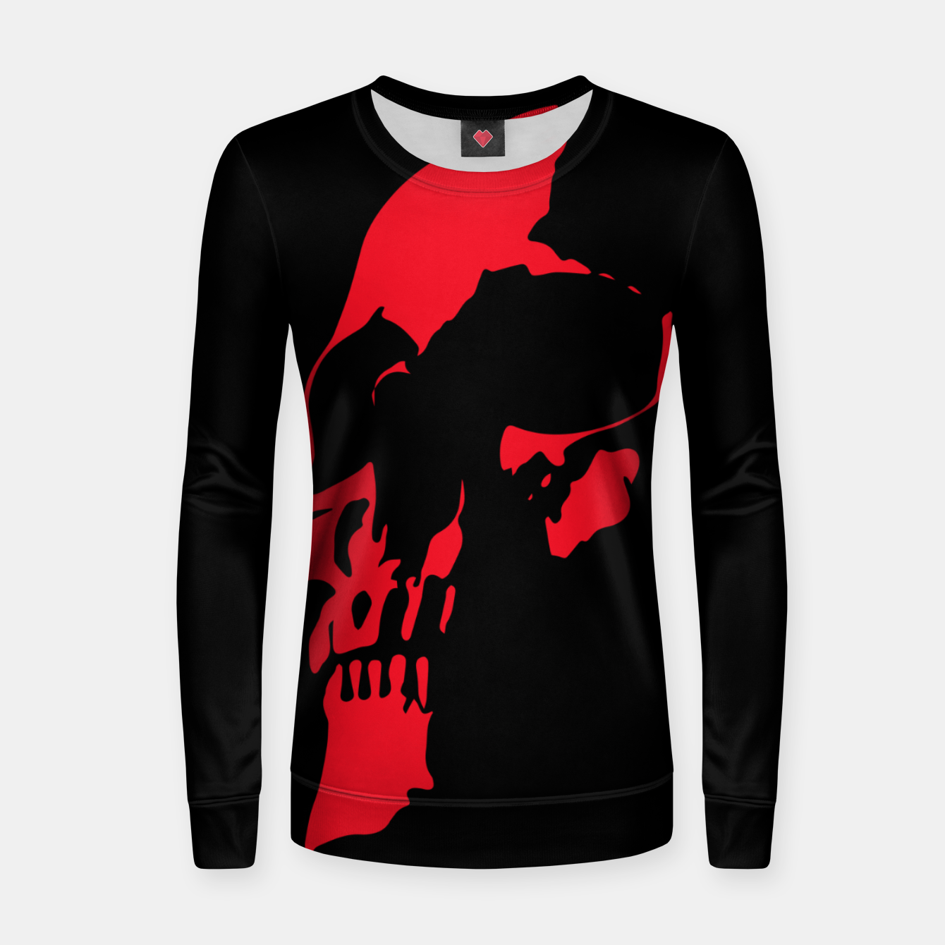 Image of Red Skull Women sweater - Live Heroes