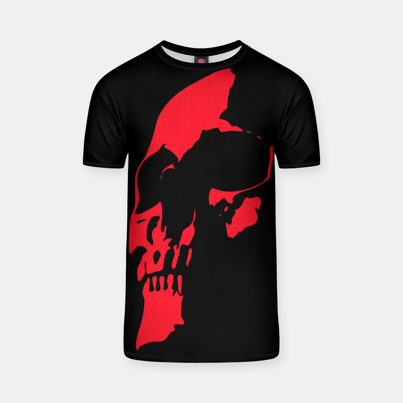 Image of Red Skull T-shirt - Live Heroes