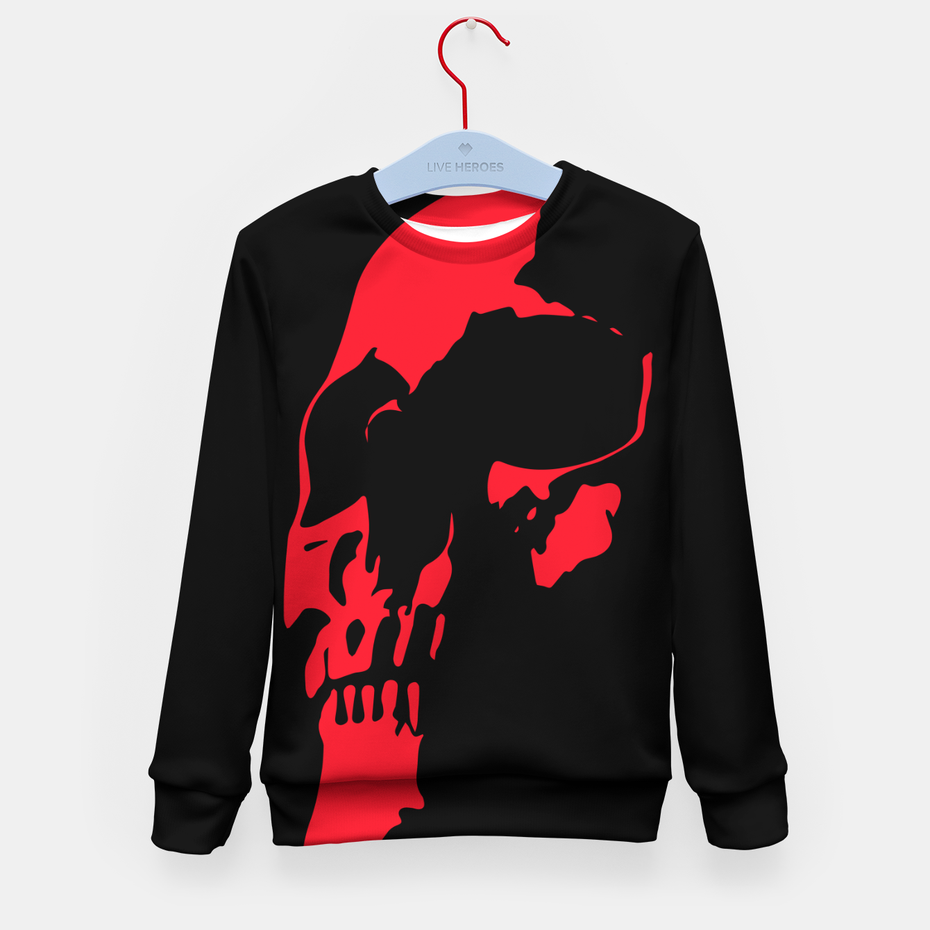 Image of Red Skull Kid's sweater - Live Heroes