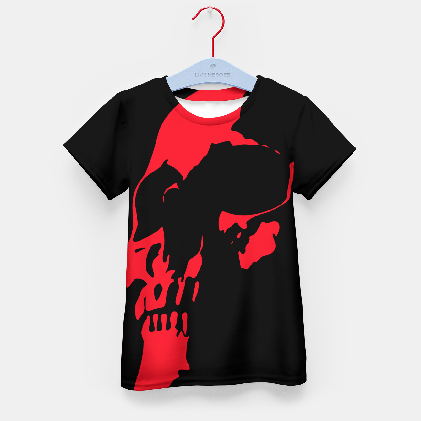 Image of Red Skull Kid's t-shirt - Live Heroes