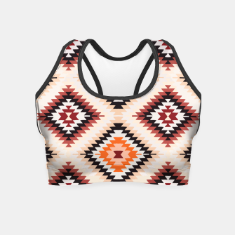Thumbnail image of Boho Southwest Oriental Traditional Geometric Style Crop Top, Live Heroes