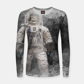 Thumbnail image of Astronaut Watercolor Women sweater, Live Heroes