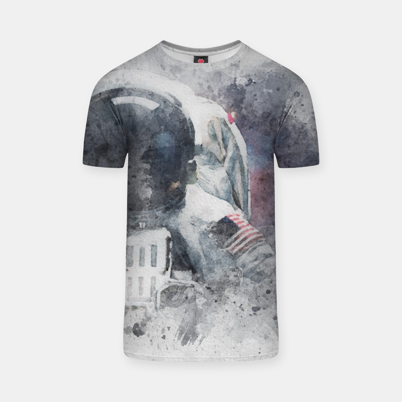 Image of Astronaut Watercolor T-shirt - Live Heroes