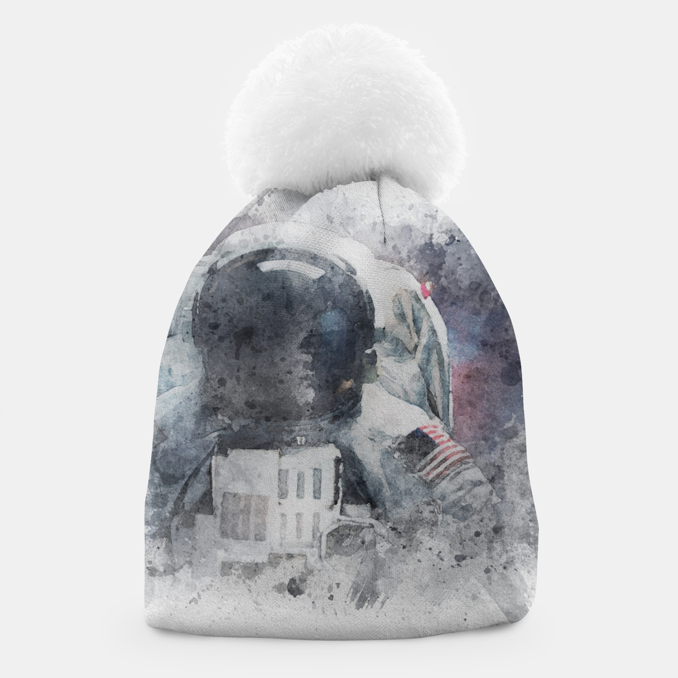 Image of Astronaut Watercolor Beanie - Live Heroes