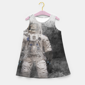Thumbnail image of Astronaut Watercolor Girl's summer dress, Live Heroes