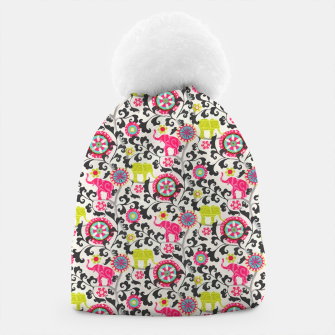 Thumbnail image of Boho Oriental Traditional Traditional Elephant  Style Beanie, Live Heroes