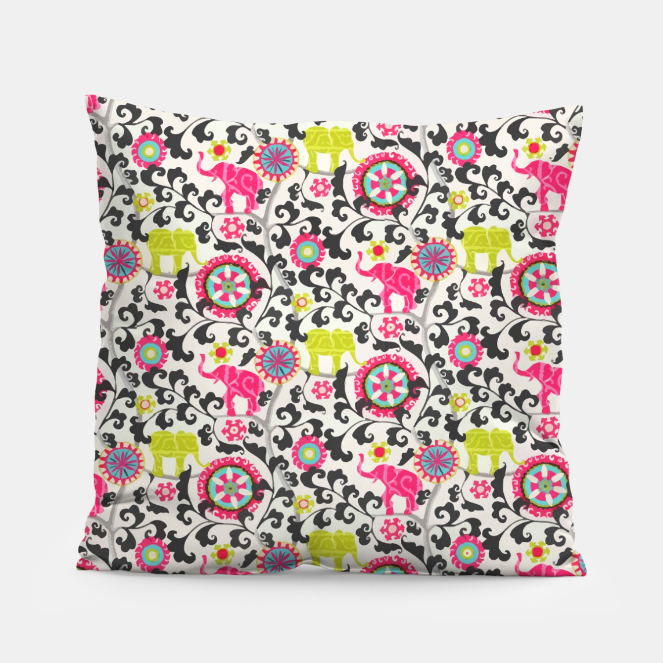 Image of Boho Oriental Traditional Traditional Elephant  Style Pillow - Live Heroes