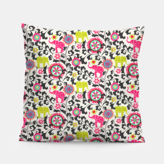 Thumbnail image of Boho Oriental Traditional Traditional Elephant  Style Pillow, Live Heroes