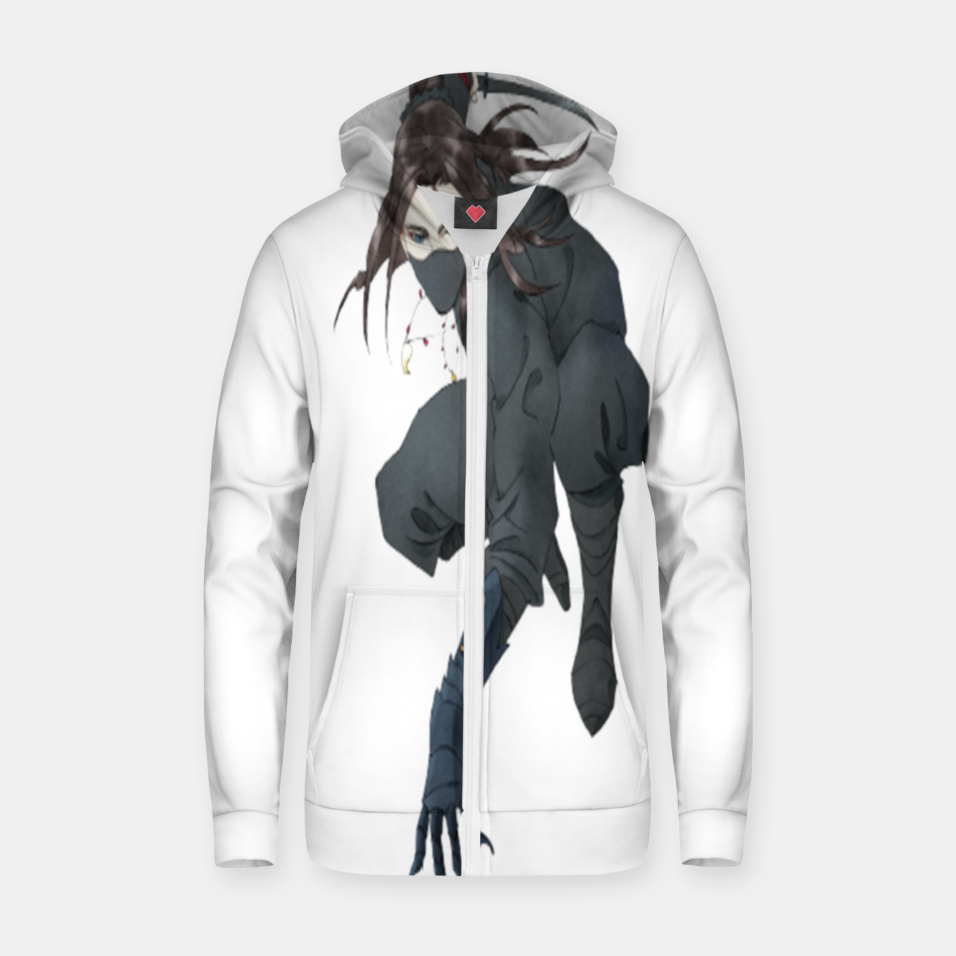 Image of Assassin of the Night Zip up hoodie - Live Heroes