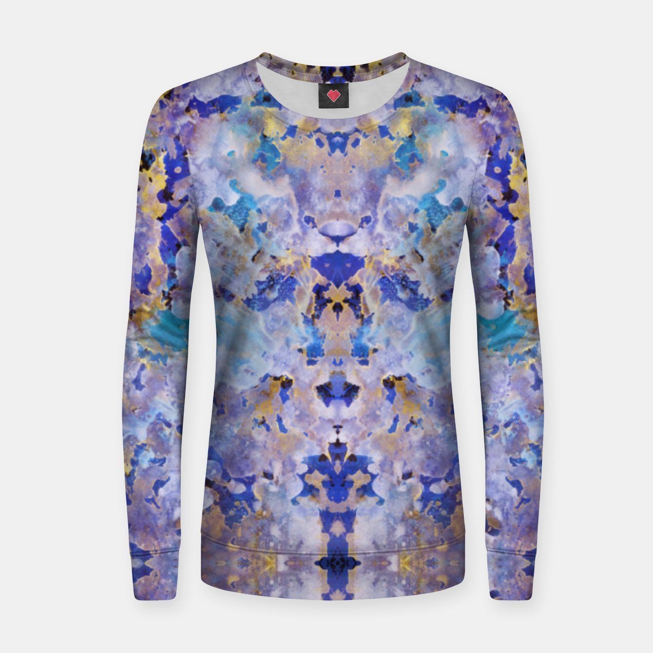 Image of Blue Painting Women sweater - Live Heroes