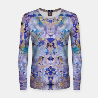 Thumbnail image of Blue Painting Women sweater, Live Heroes