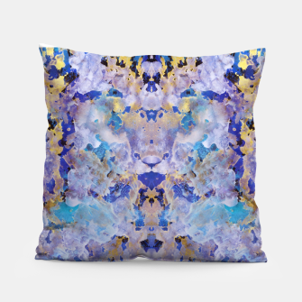 Thumbnail image of Blue Painting Pillow, Live Heroes