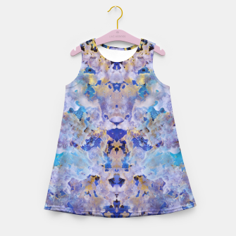Thumbnail image of Blue Painting Girl's summer dress, Live Heroes