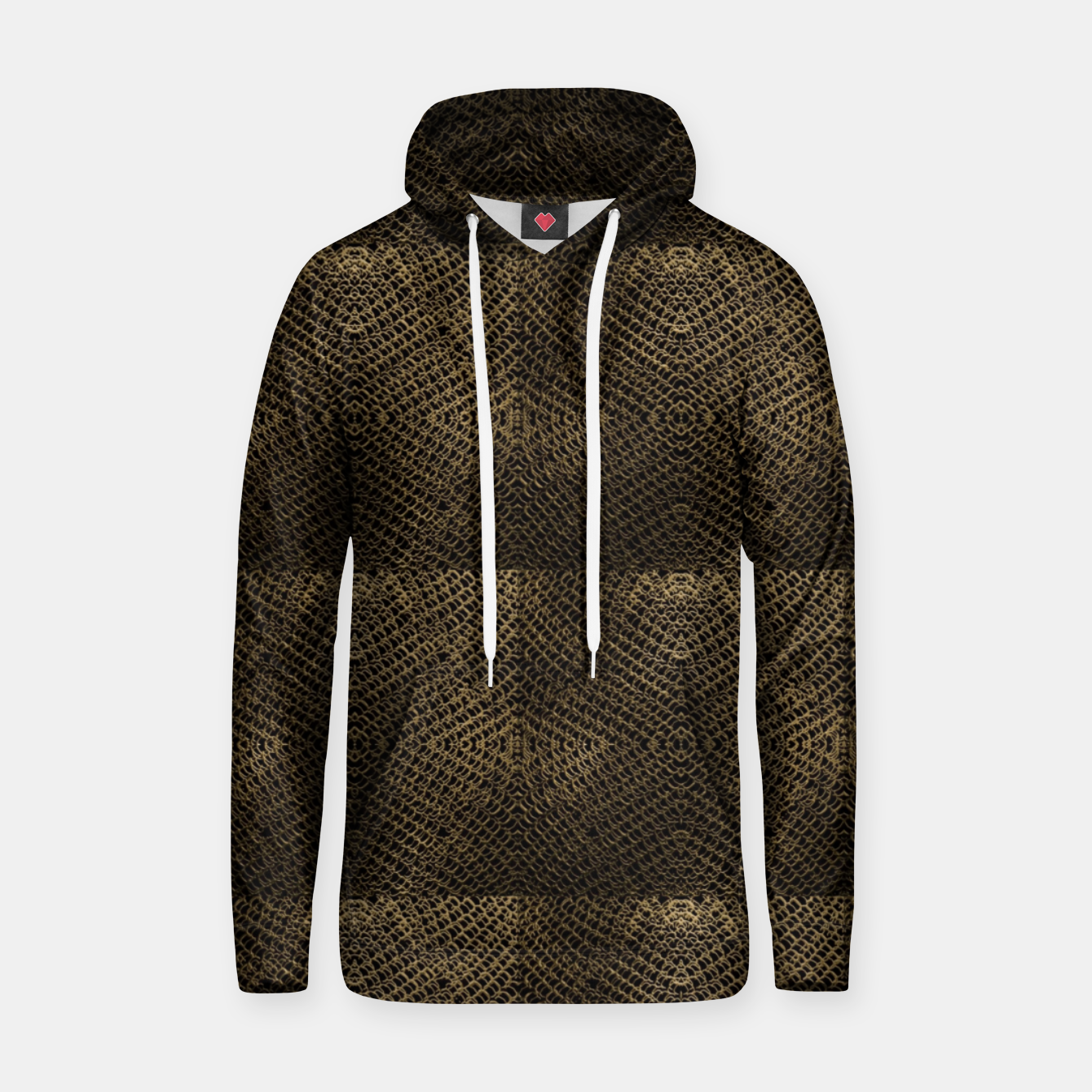 Image of Gold Chain Maille Hoodie - Live Heroes