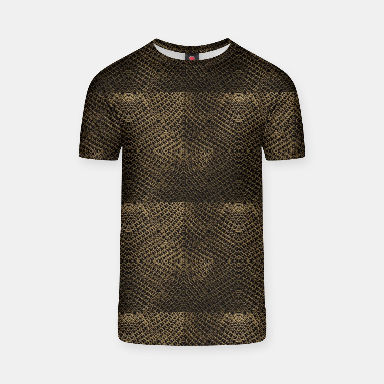 Image of Gold Chain Maille T-shirt - Live Heroes