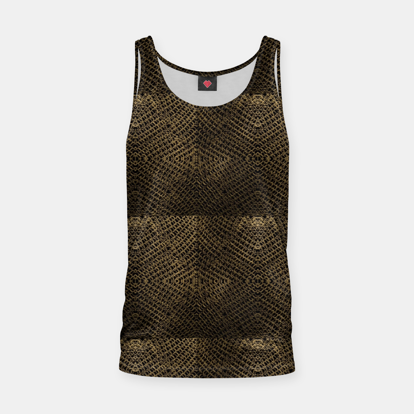 Image of Gold Chain Maille Tank Top - Live Heroes