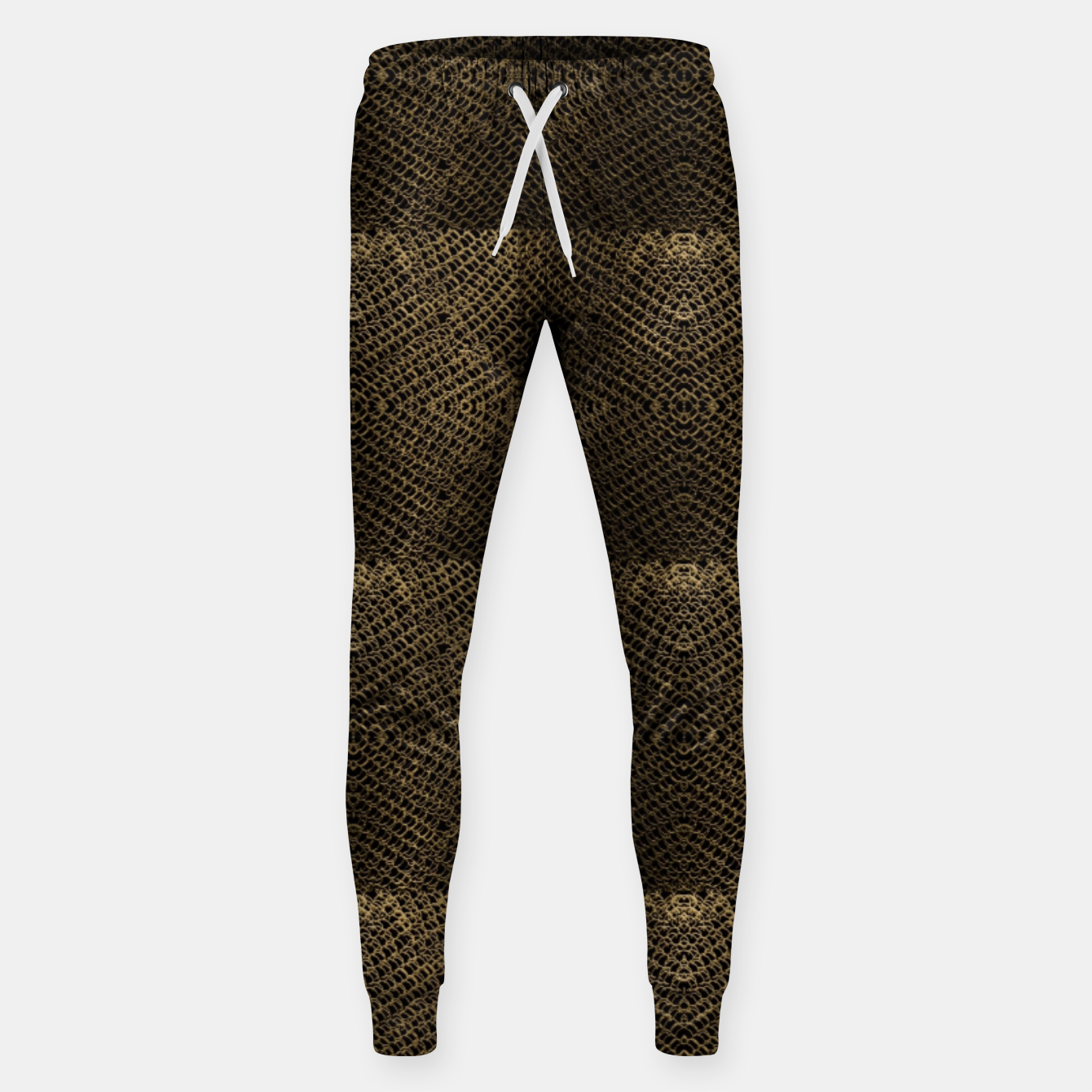 Image of Gold Chain Maille Sweatpants - Live Heroes