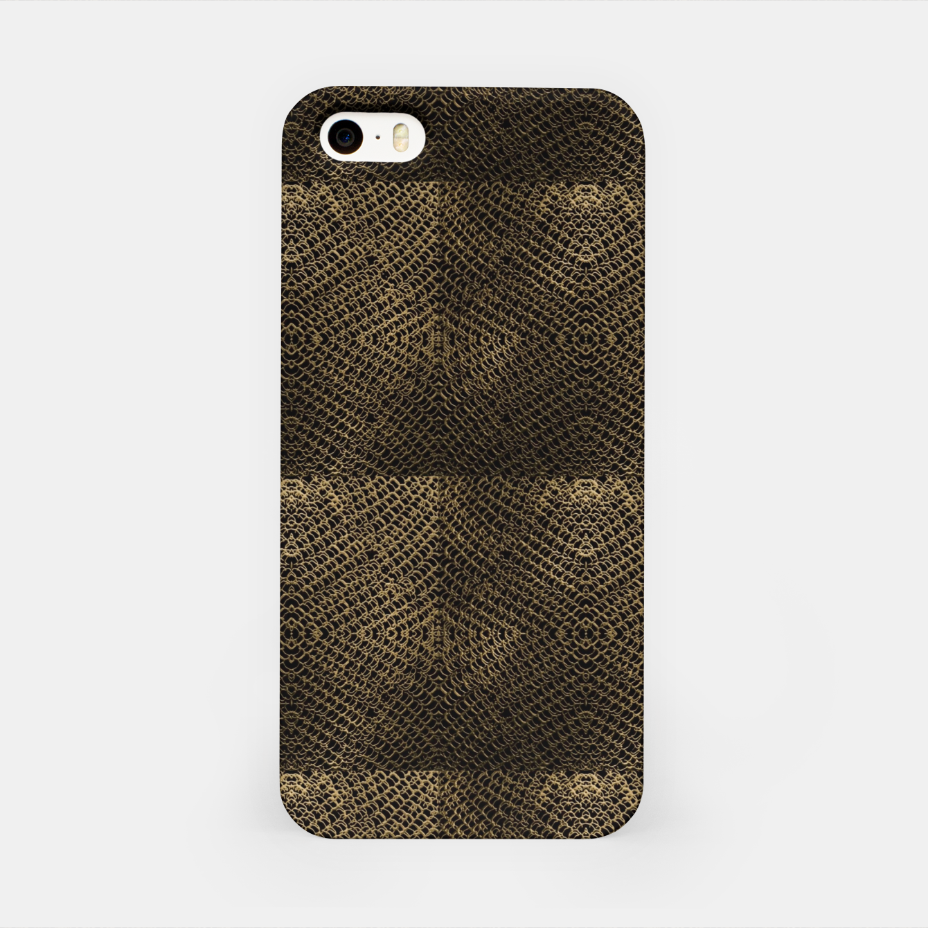 Image of Gold Chain Maille iPhone Case - Live Heroes