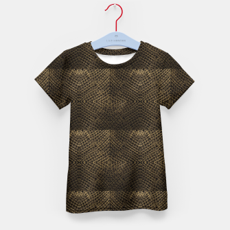 Gold Chain Maille Kid's t-shirt thumbnail image