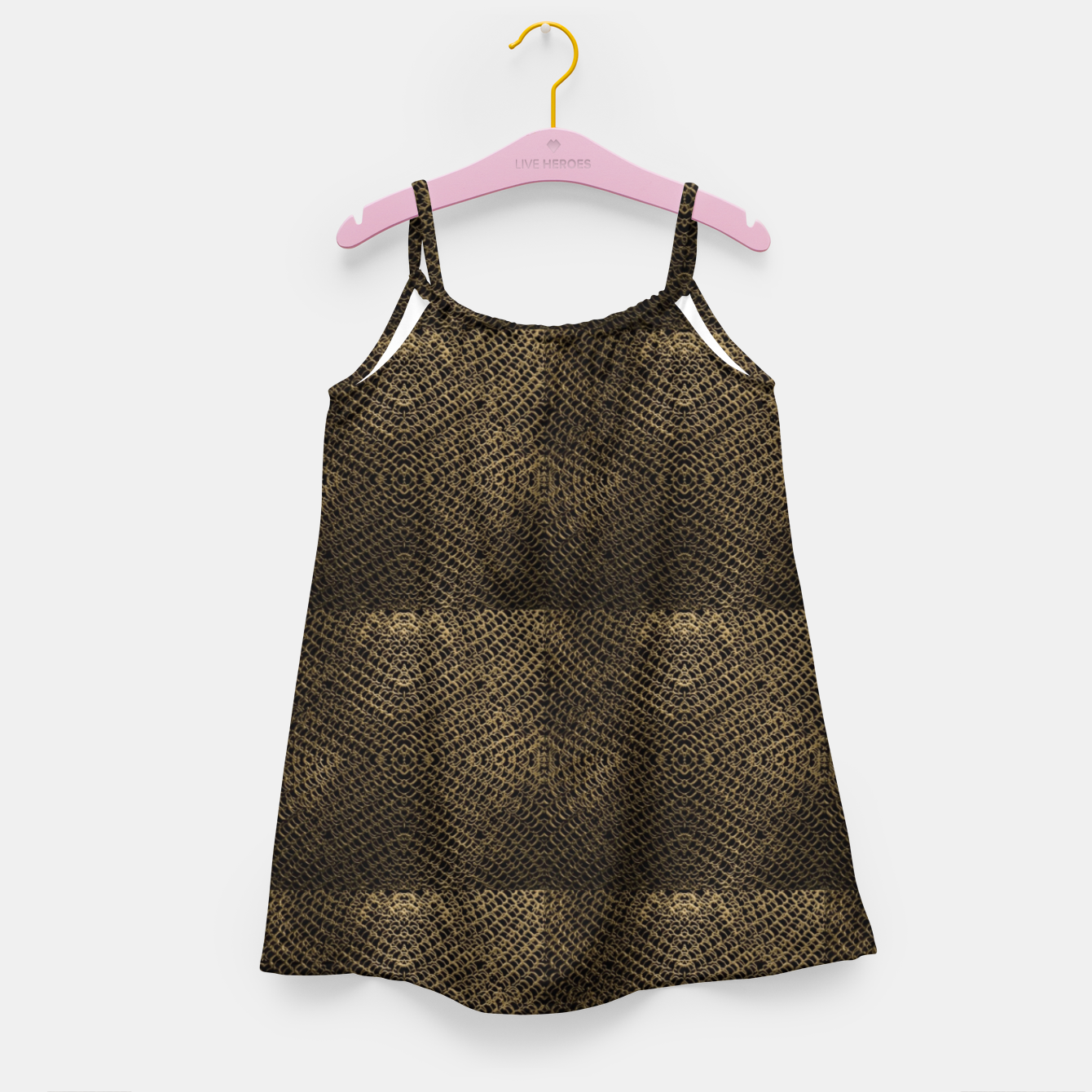 Image of Gold Chain Maille Girl's dress - Live Heroes