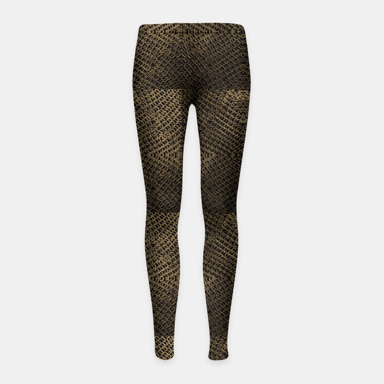 Image of Gold Chain Maille Girl's leggings - Live Heroes