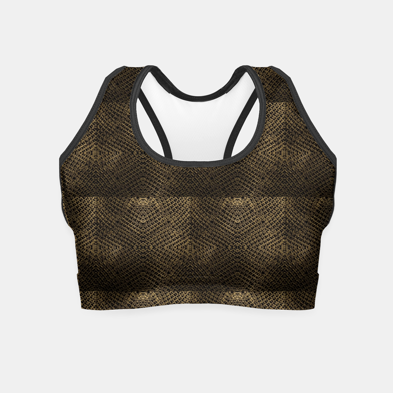 Image of Gold Chain Maille Crop Top - Live Heroes