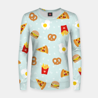 Thumbnail image of Women sweater Fast Food, Live Heroes