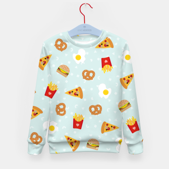 Thumbnail image of Kid's sweater Fast Food, Live Heroes