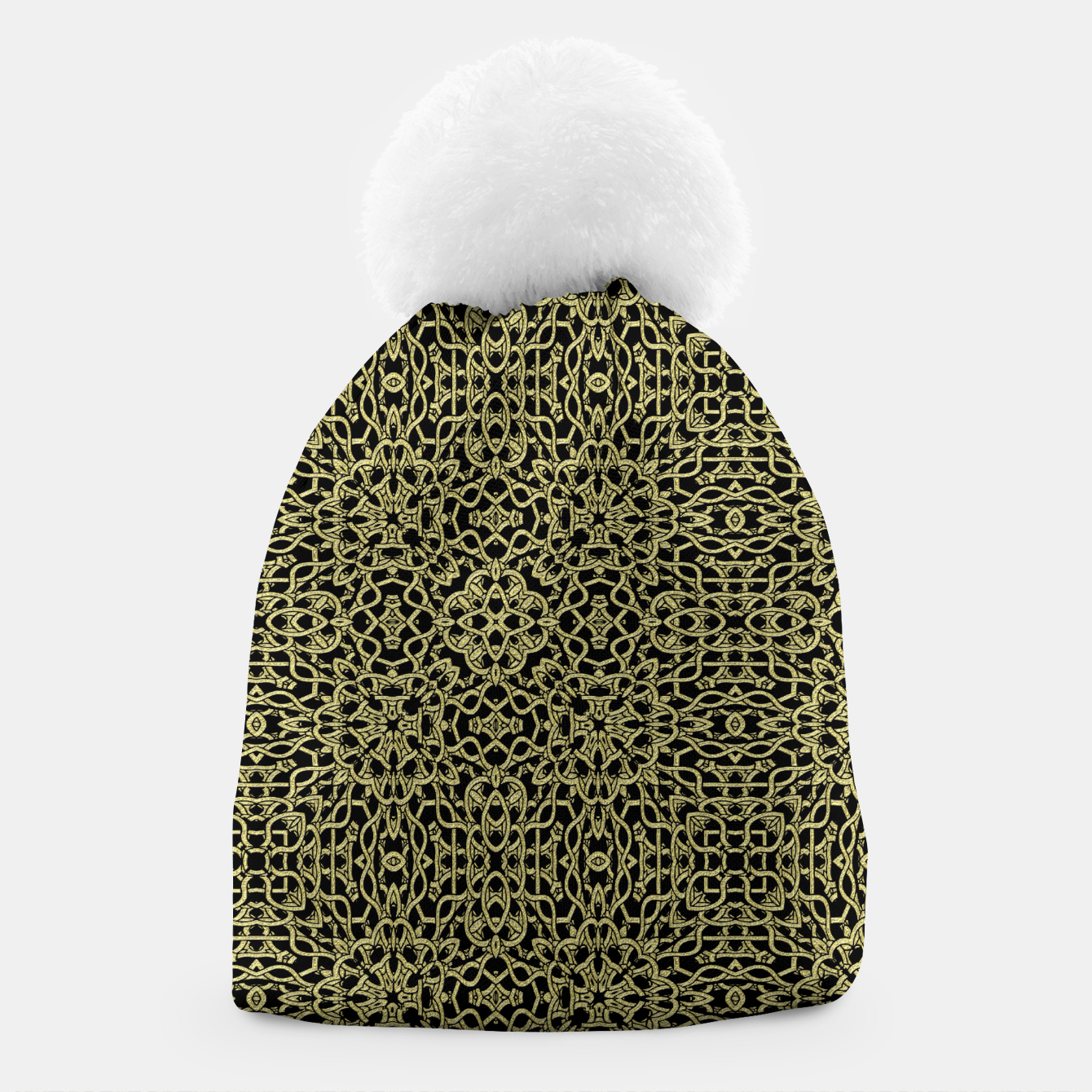 Image of Gold Celtic Kaleidoscope Beanie - Live Heroes