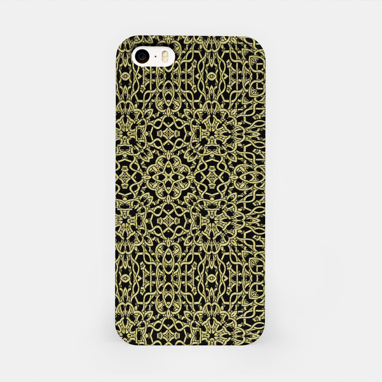 Image of Gold Celtic Kaleidoscope iPhone Case - Live Heroes