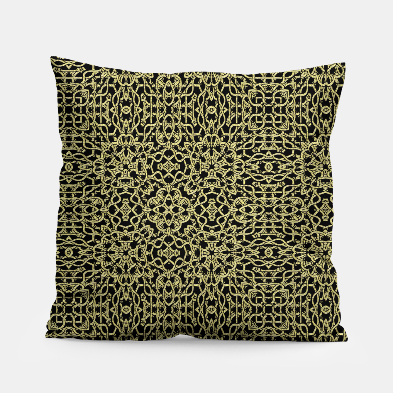Image of Gold Celtic Kaleidoscope Pillow - Live Heroes