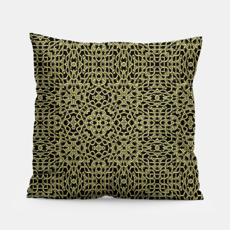 Thumbnail image of Gold Celtic Kaleidoscope Pillow, Live Heroes
