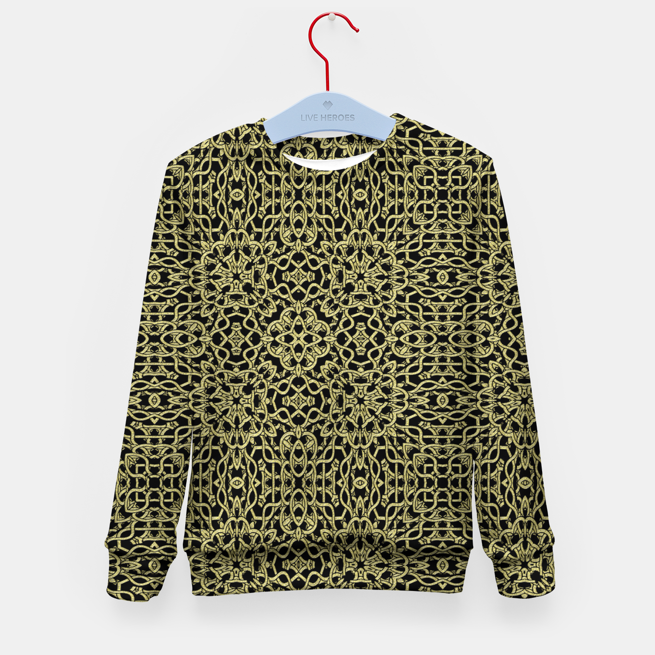 Image of Gold Celtic Kaleidoscope Kid's sweater - Live Heroes