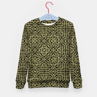 Thumbnail image of Gold Celtic Kaleidoscope Kid's sweater, Live Heroes