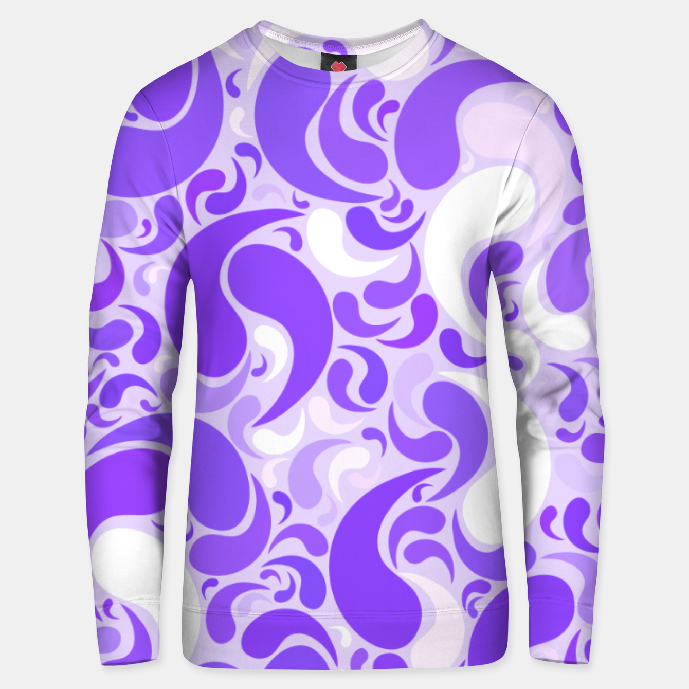 Image of Lavender dreams, violet dancing drops, geometric shapes in lilac color shades Unisex sweater - Live Heroes