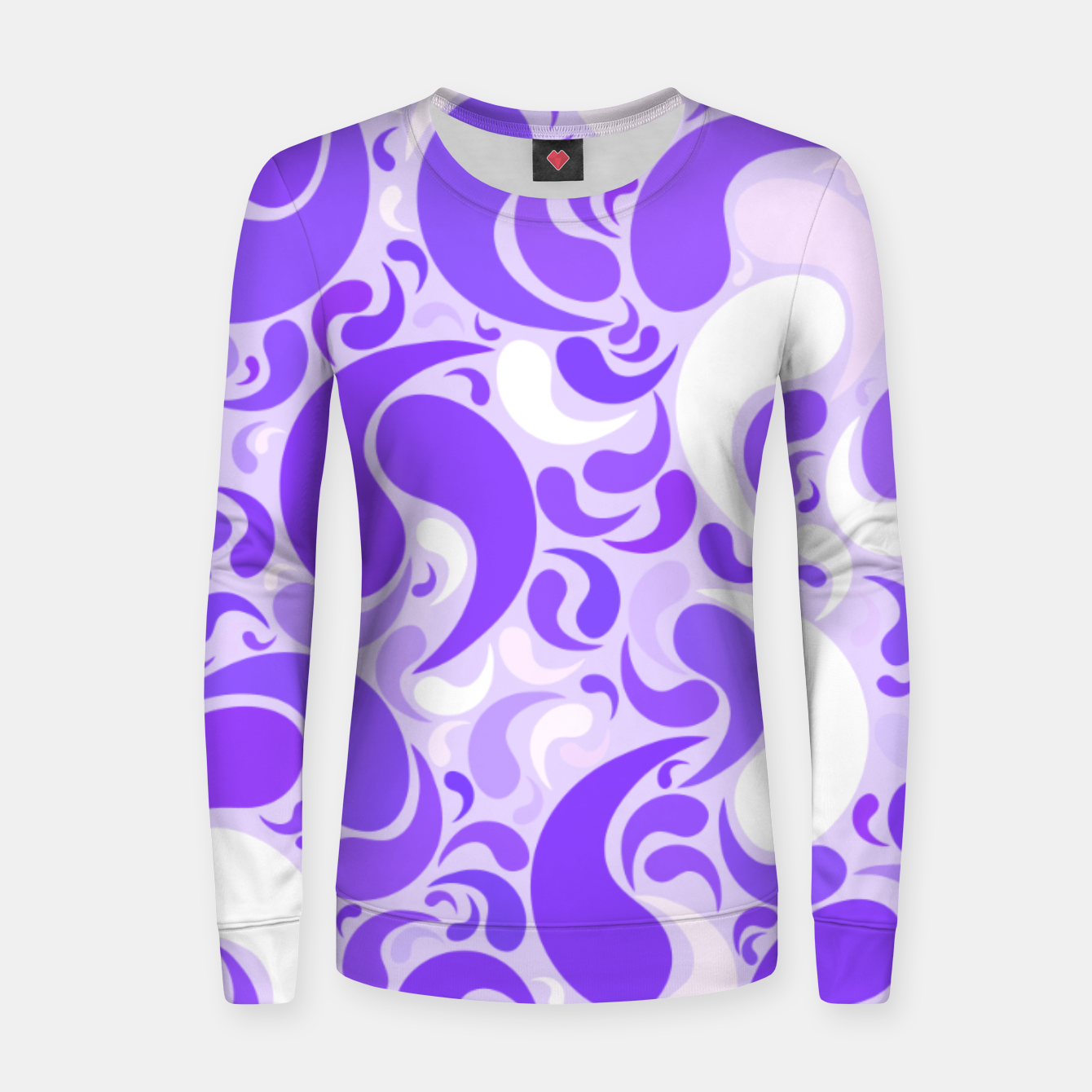 Image of Lavender dreams, violet dancing drops, geometric shapes in lilac color shades Women sweater - Live Heroes