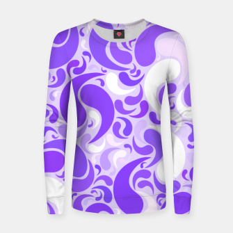 Thumbnail image of Lavender dreams, violet dancing drops, geometric shapes in lilac color shades Women sweater, Live Heroes