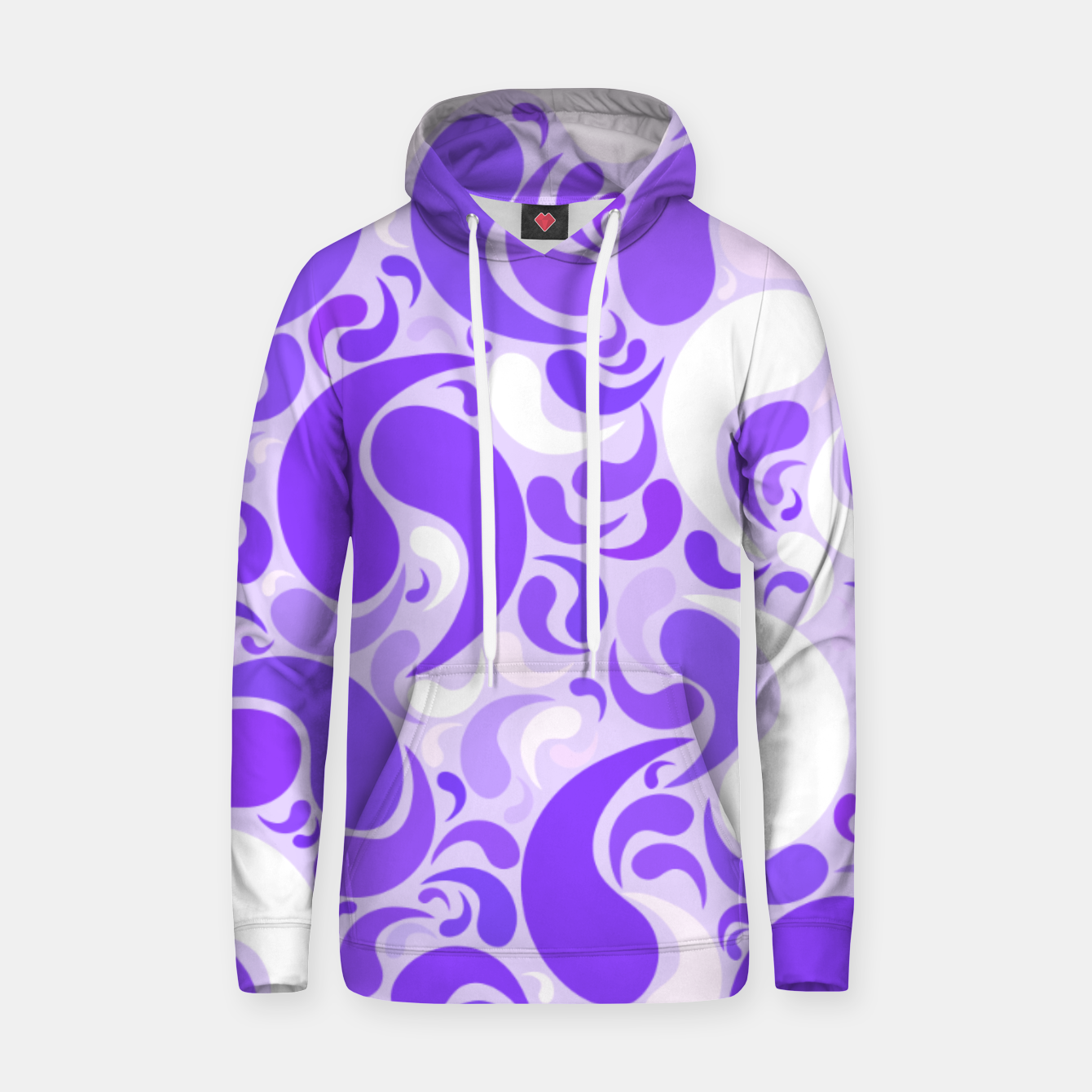 Image of Lavender dreams, violet dancing drops, geometric shapes in lilac color shades Hoodie - Live Heroes