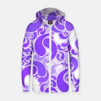 Thumbnail image of Lavender dreams, violet dancing drops, geometric shapes in lilac color shades Zip up hoodie, Live Heroes