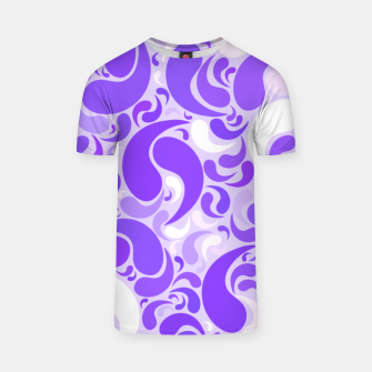 Thumbnail image of Lavender dreams, violet dancing drops, geometric shapes in lilac color shades T-shirt, Live Heroes
