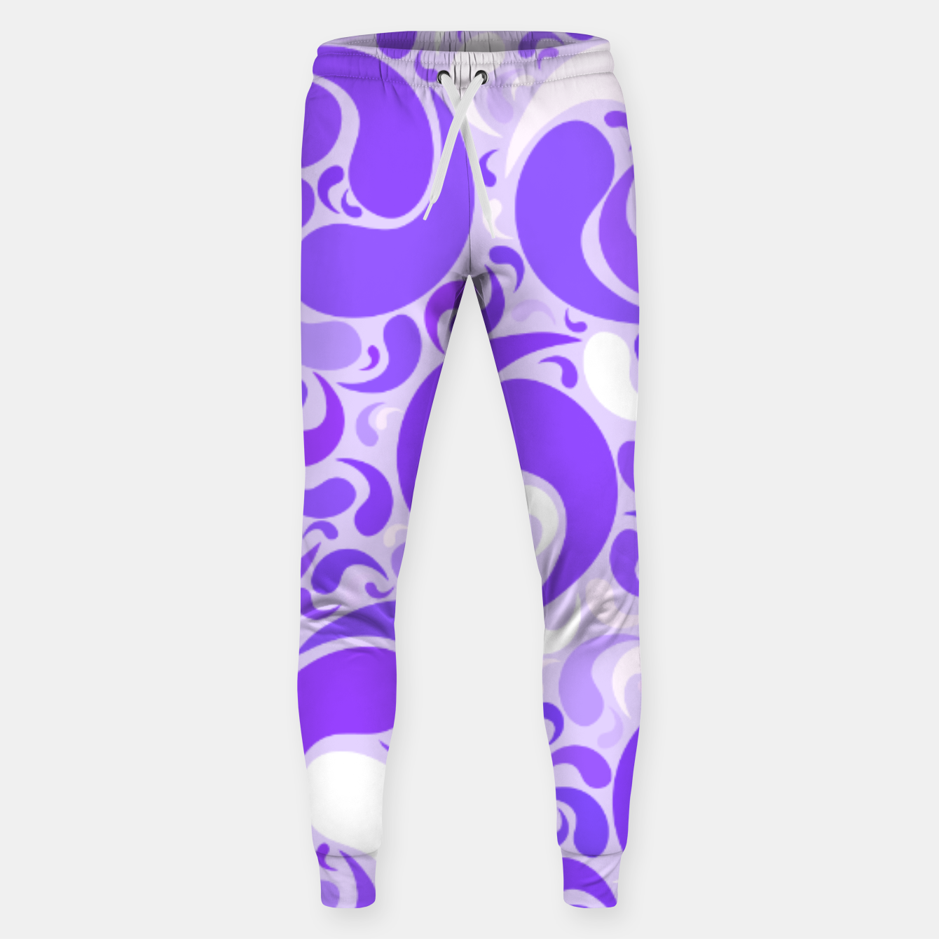 Image of Lavender dreams, violet dancing drops, geometric shapes in lilac color shades Sweatpants - Live Heroes