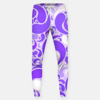 Thumbnail image of Lavender dreams, violet dancing drops, geometric shapes in lilac color shades Sweatpants, Live Heroes