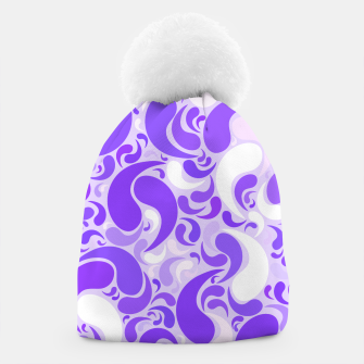 Thumbnail image of Lavender dreams, violet dancing drops, geometric shapes in lilac color shades Beanie, Live Heroes