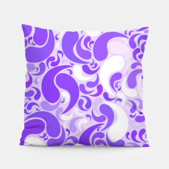 Thumbnail image of Lavender dreams, violet dancing drops, geometric shapes in lilac color shades Pillow, Live Heroes