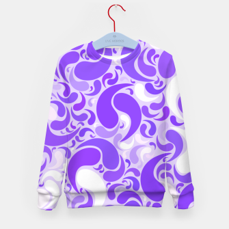 Thumbnail image of Lavender dreams, violet dancing drops, geometric shapes in lilac color shades Kid's sweater, Live Heroes