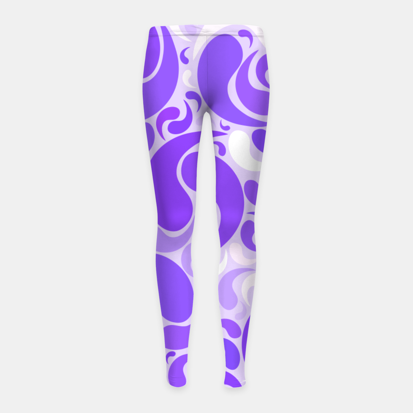 Image of Lavender dreams, violet dancing drops, geometric shapes in lilac color shades Girl's leggings - Live Heroes
